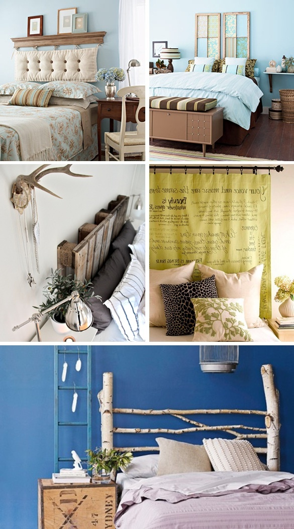Amazing and creative headboards that you can make yourself!