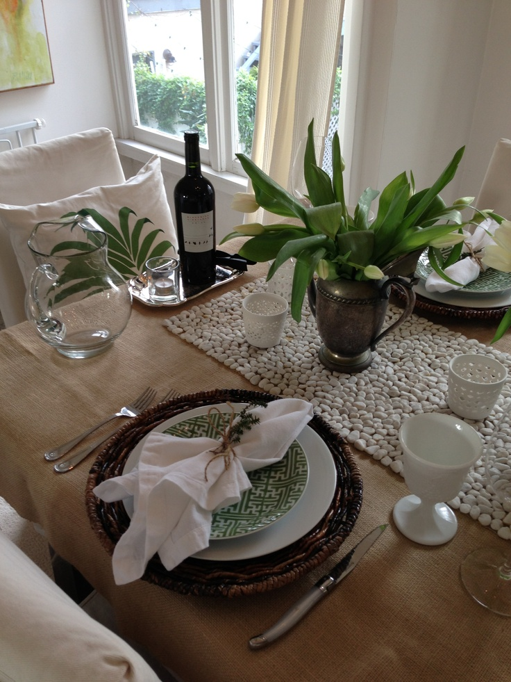 Table Setting For Dinner Party : Table set for dinner party  Table Setting Ideas  Pinterest