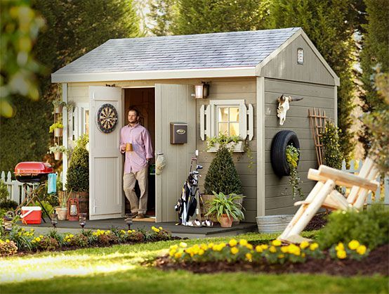 Backyard Man Cave Plans : Shed Renovation and Shed Organization Ideas at The Home Depot man