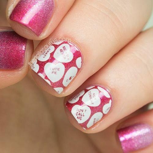 valentine gradient nails