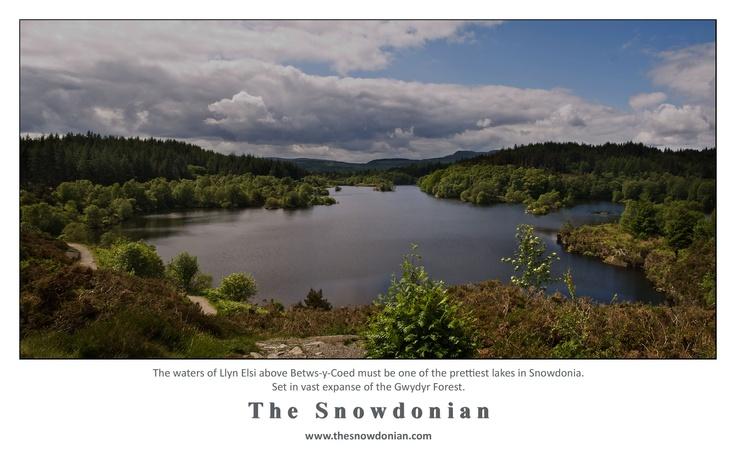 The pretty Llyn Elsi above Betws-y-Coed in Snowdonia