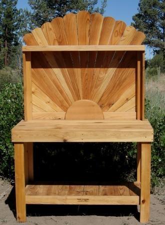 Sunburst Potting Bench Cedar Decorations Pinterest
