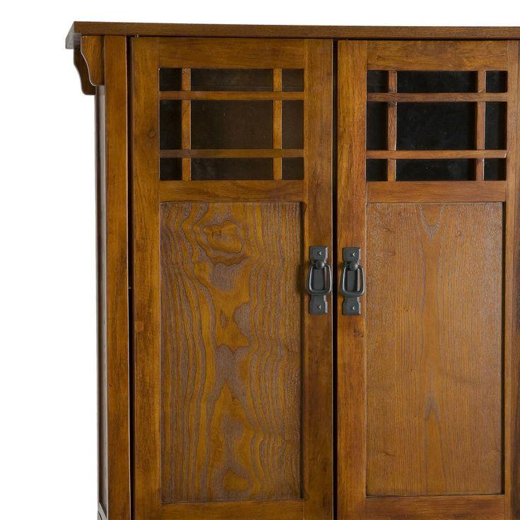 stickley arts crafts mission style oak bath cabinet storage bathroom