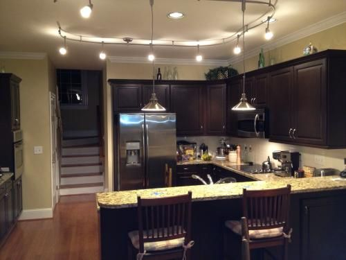Kitchen Track Lighting With Pendants Home Pinterest