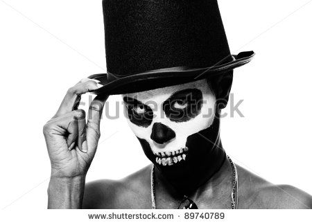 Voodoo Witch   Female Voodoo Priestess With Face Paint Stock Photo    Voodoo Skull Face Paint