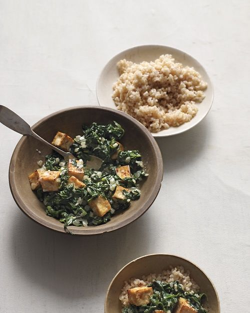 ... dish: Spiced Tofu with Wilted Spinach and Yogurt, Wholeliving.com