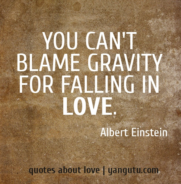 you can 39 t blame gravity for falling in love by albert