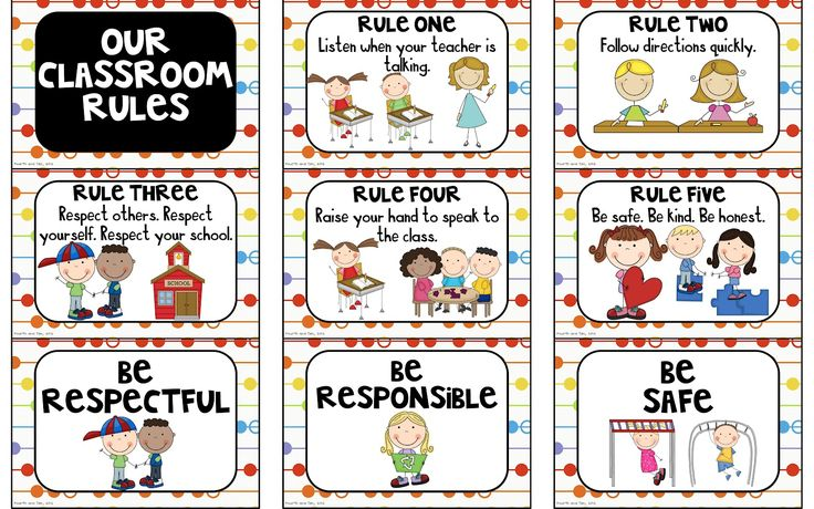 Fourth and Ten: Rules and Behavior Expectation Freebies