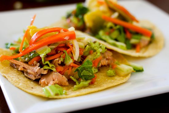 Salmon Kimchi Tacos + Homemade Kimchi! -- www.perrysplate.com