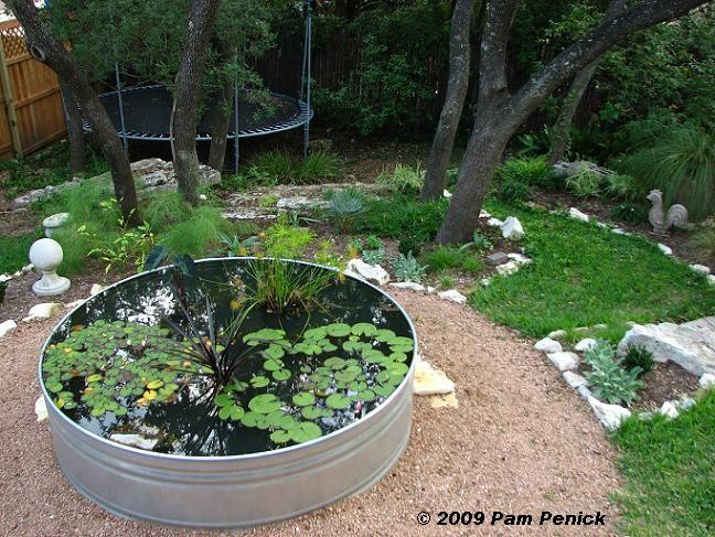 Garden metal pond outdoor living pinterest for Circular garden ponds