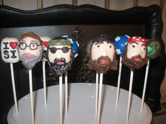 duck dynasty cake pops | how awesome are these duck dynasty cake pops by cakepopsandcookies