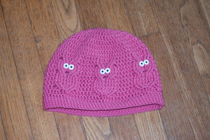 Free Crochet Pattern For Child s Owl Hat : The Owl Hat Pattern ... FREE!!! Crochet Owls Pinterest
