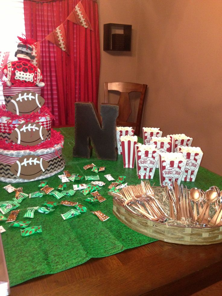 football baby shower baby shower ideas pinterest