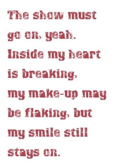 Queen Lyrics Quotes Queen - The Sho...