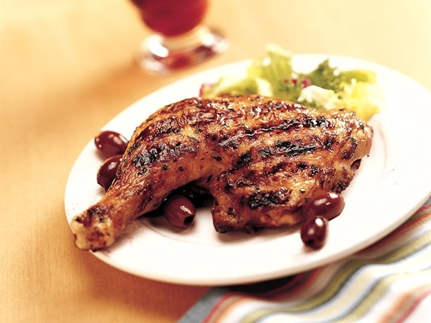 Grilled Greek Chicken with Red Wine and Garlic | Recipe