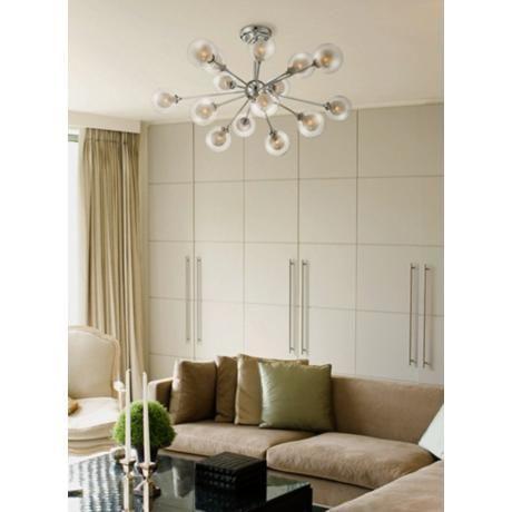 Possini Euro Design 15-Light Glass Orbs Ceiling Light