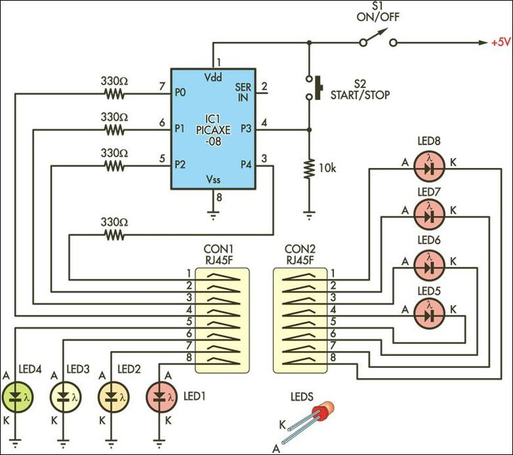 cable tester schematic