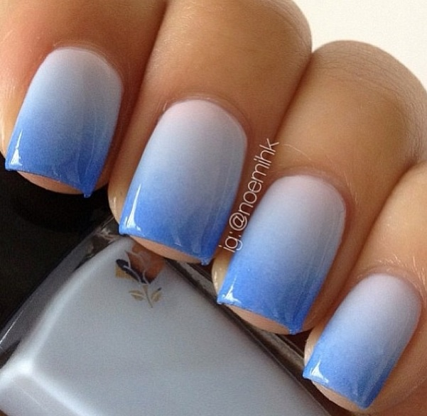Baby Blue Nails With Designs