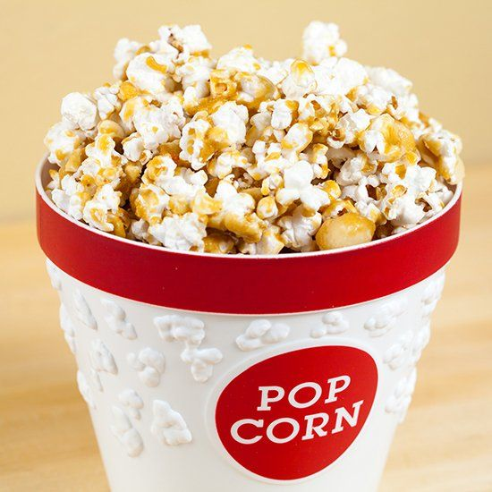 Macadamia Butter-Crunch Popcorn: every piece has been coated in a ...