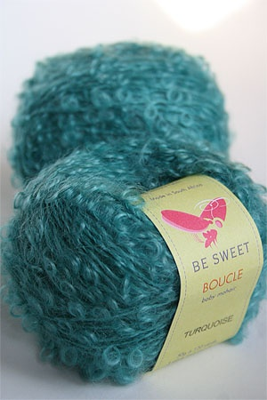 Be Sweet Mohair Boucle Yarn :: Turquoise Love turquoise Pinterest