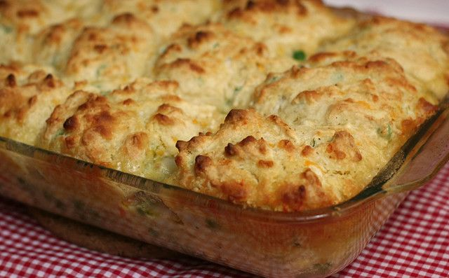 Veggie Pot Pie with Cheddar Biscuits by amyisaacson, via Flickr