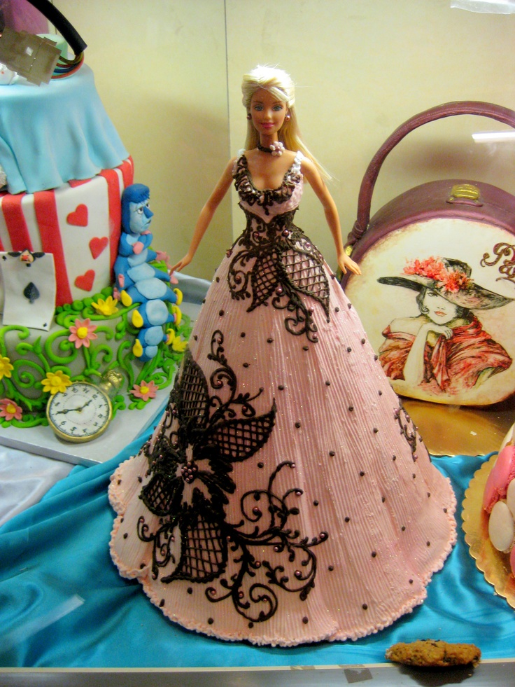 Cake Decoration Doll : Barbie doll cake Doll Cakes Pinterest