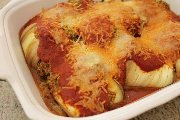 Eggplant Cannelloni ready to be served | Favorite Recipes | Pinterest