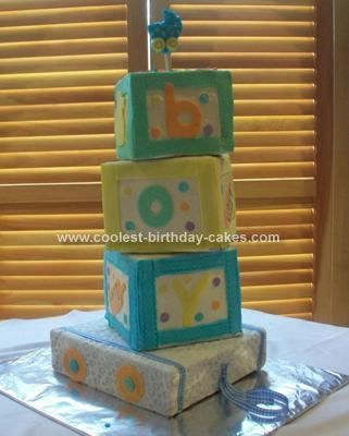 Homemade Building Blocks Baby Cake... This website is the Pinterest of ...
