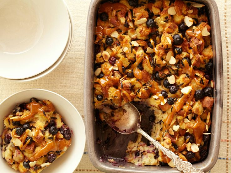 Blueberry Bread and Rice Pudding with Orange Caramel Sauce | Recipe
