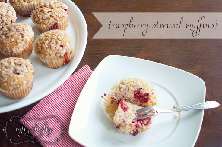 raspberry streusel muffins} | {my recipes} | Pinterest