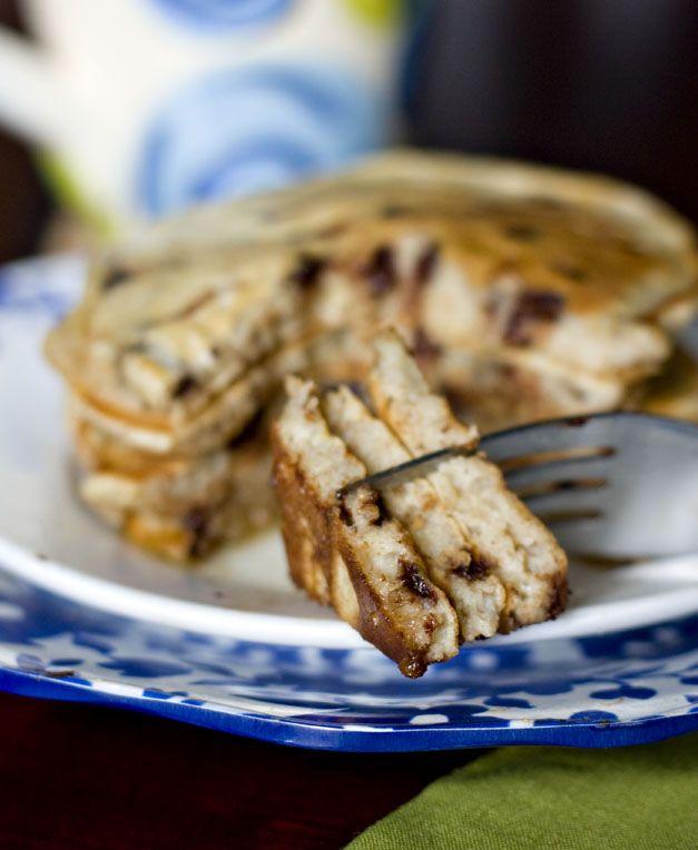 whole wheat chocolate chip buttermilk pancakes