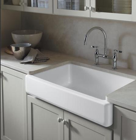 Retrofit Farmhouse Sink : Kohler apron front sink retrofit