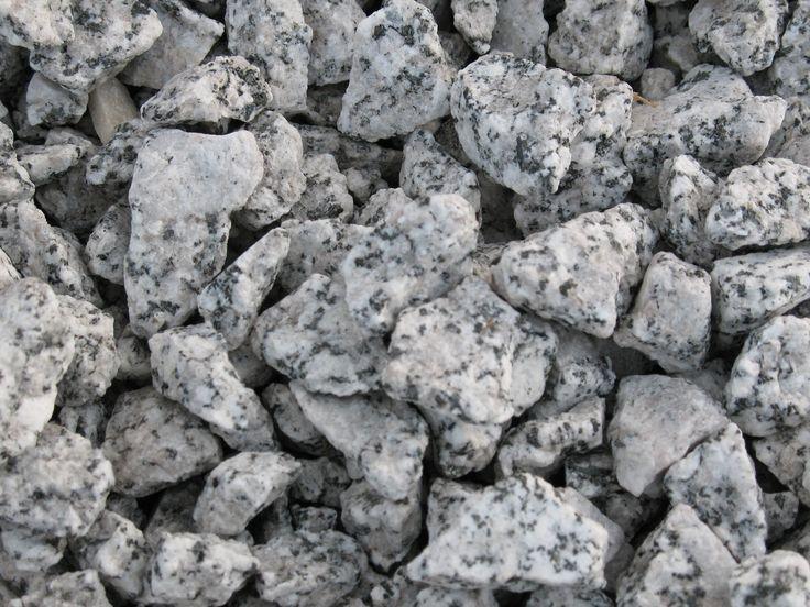 Salt and pepper granite rocks pinterest for Black granite landscape rock