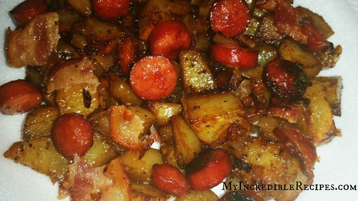 Oven Roasted Smoked Sausage, Potatoes & Bacon