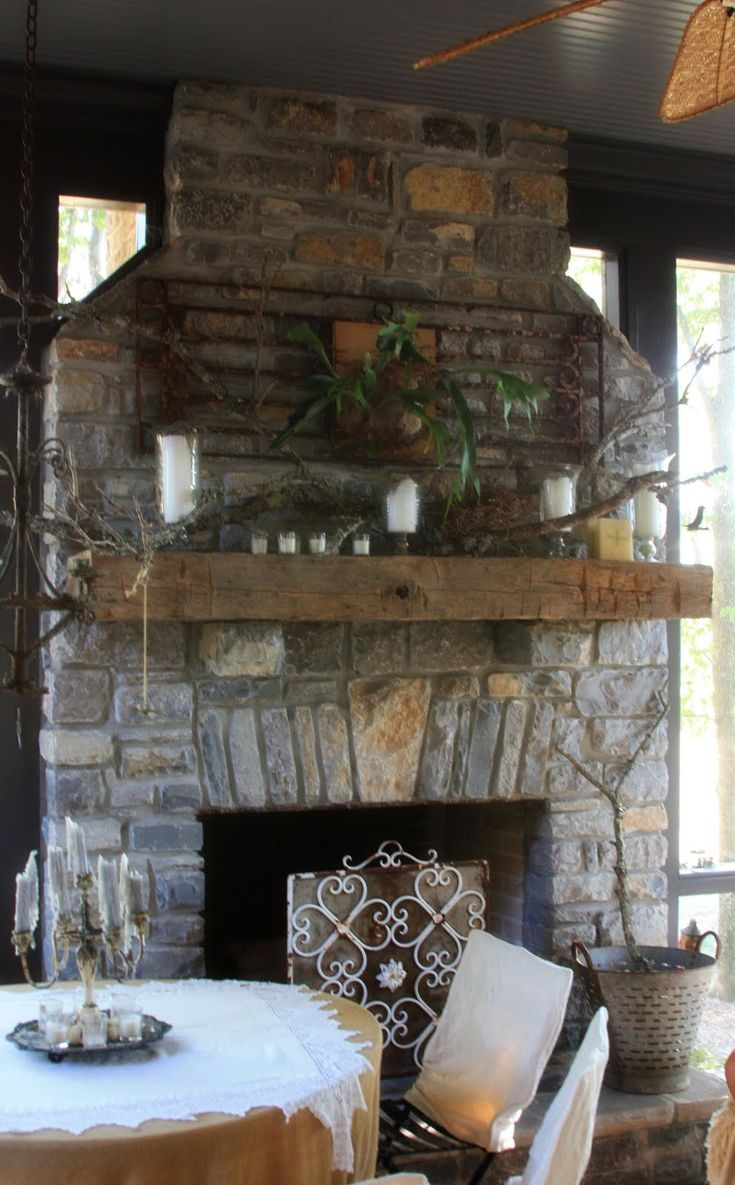 Screened porch fireplace farm and garden pinterest for Screened in porch fireplace ideas