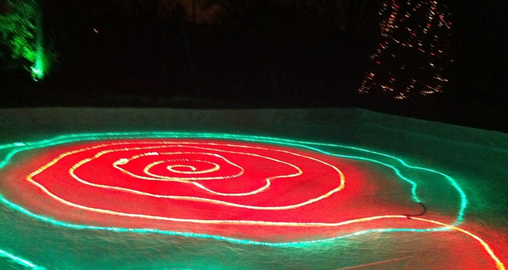 Backyard Ice Rink Lights : Festive rope lights!  Backyard Ice Rinks  Pinterest