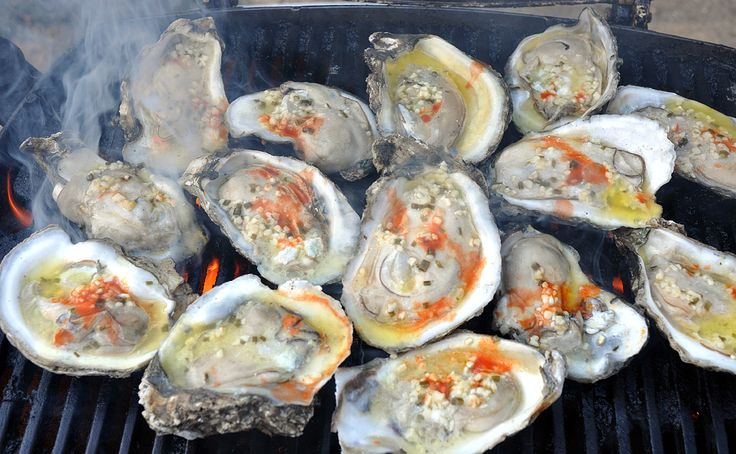 Garlic Butter Grilled Oysters   Oysters   Pinterest