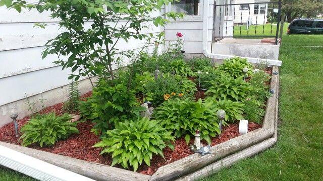 Flower garden in front of house i love my plants pinterest