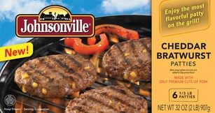 Johnsonville Cheddar Bratwurst Patties-we are trying these tomorrow!!