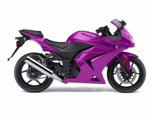 Kawasaki Ninja 500 in Purple. *dream bike* :)
