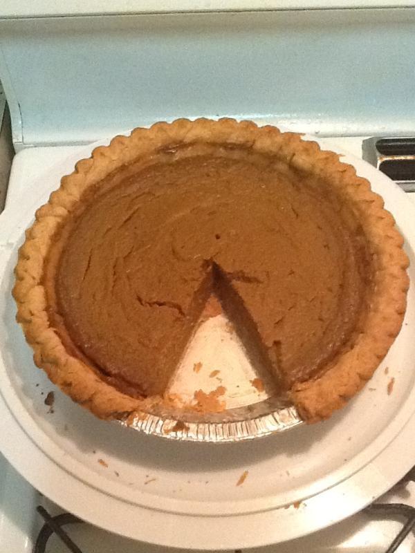 My father's homemade sweet potato pie #holiday #recipe