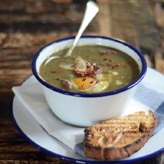 Lentil Soup with speck and poached egg | Soups & Chowder | Pinterest