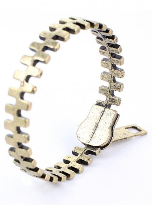 Zip Retro Metal Bracelet Bronze #Udobuy