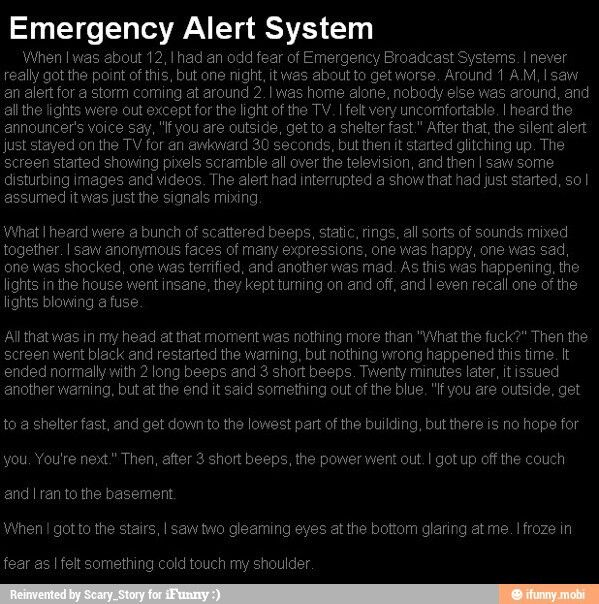 Emergency Alert System Scary Stories Pinterest