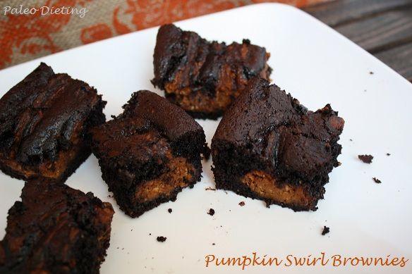 Pumpkin Swirl Brownies (Grain free, gluten free, dairy free)