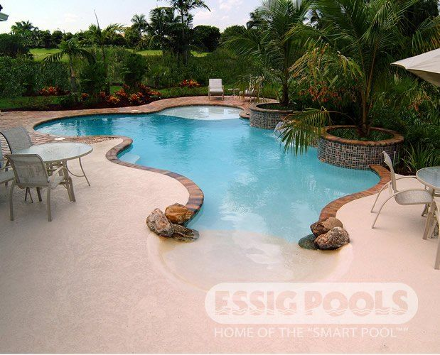 Beach entry swimming pool designs home design ideas Beach entry swimming pool designs