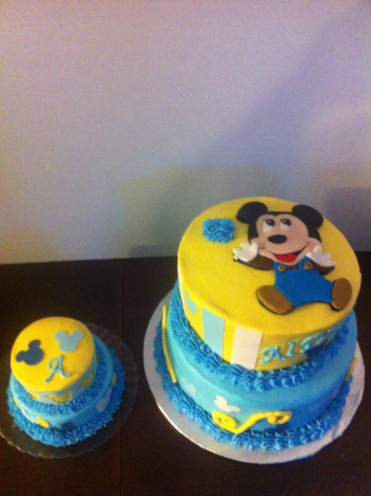 baby mickey mouse smash cake