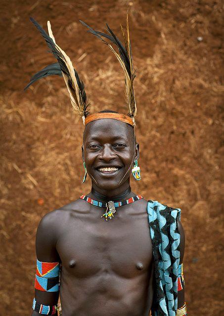 Africa | Salimba, Bana tribe whipper - Key Afer Ethiopia |  © Eric Lafforgue