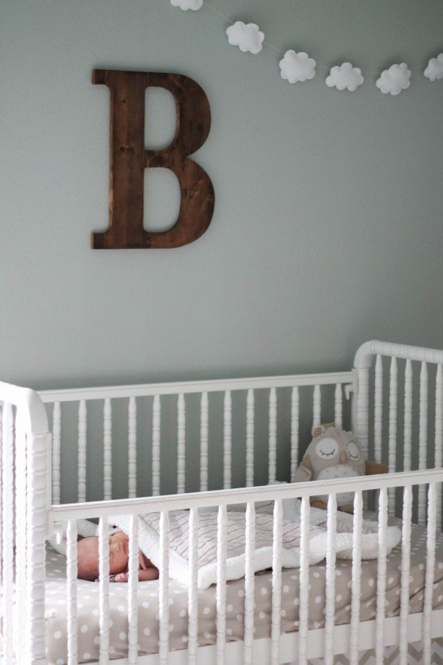 dreamy baby boy nursery room // Blissfully Blessed