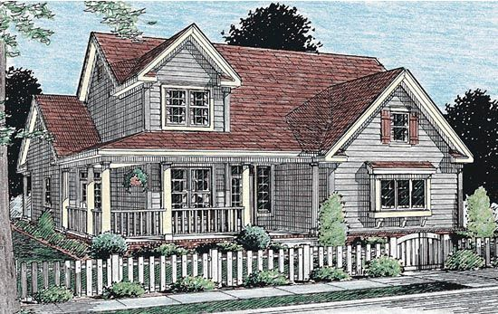 Country Southern Traditional House Plan 68160